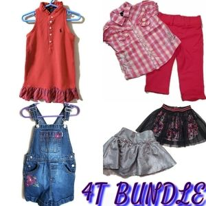 Girl's 4T Clothing Bundle - Variety of brands